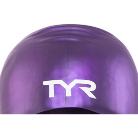 TYR Wrinkle-Free Long Hair Gorro de natación, purple